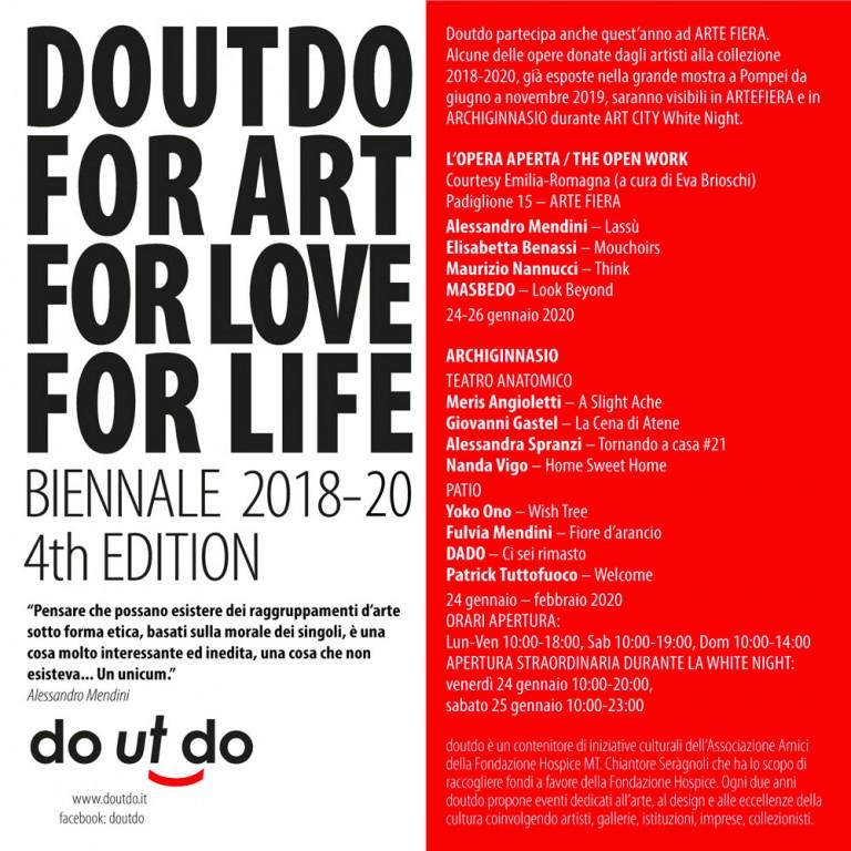 Save the date - doutdo in ARTE FIERA 2020